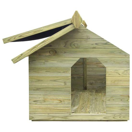 Greatstore Psia búda s otváracou strechou, impregnovaná borovica