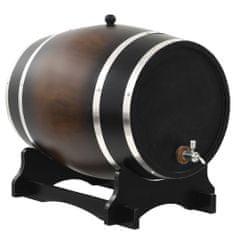 Greatstore Soudek na víno s pípou masivní borovice 35 l