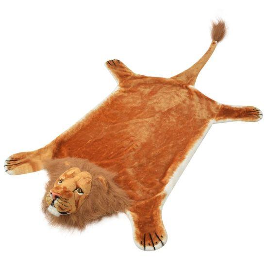 shumee Koberec v tvare leva, plyšový 205 cm, hnedý