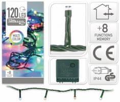 Pollin Novoletne lučke veriga 120 LED RGB 12m - 8 funkcij