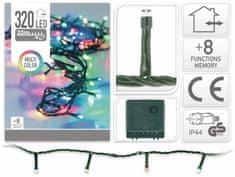 Pollin Novoletne lučke 320 LED RGB barvne 32m - 8 funkcij