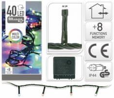 Pollin Novoletne lučke veriga 40 LED RGB 4m - 8 funkcij