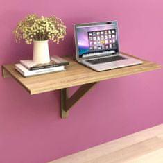 shumee Sklápěcí nástěnný stůl dub 100 x 60 cm
