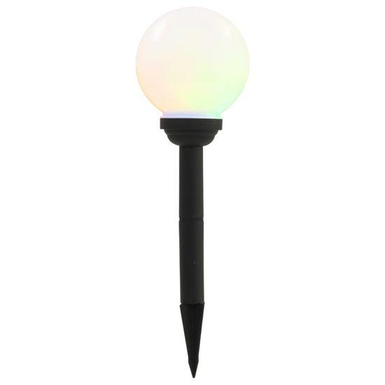 shumee Vonkajšie solárne lampy 8 ks 15 cm LED guľové RGB