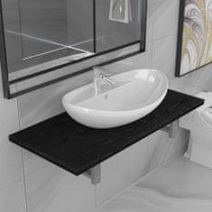 Greatstore 2dílný set koupelnového nábytku keramika černý