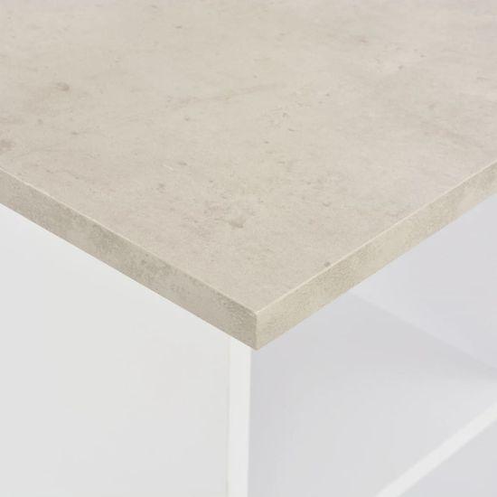 Greatstore Barový stôl biely 60x60x110 cm