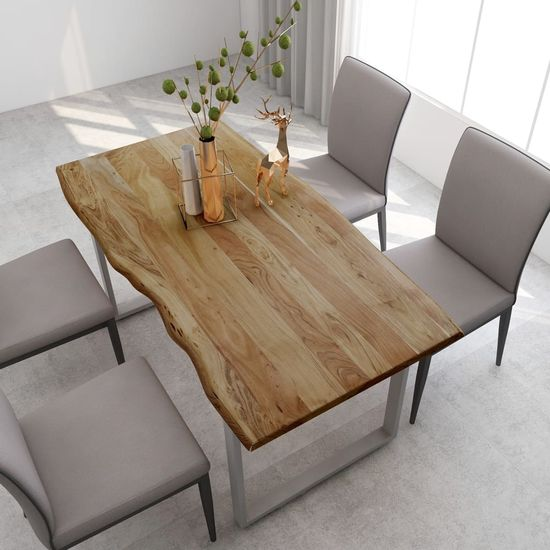 shumee tömör akácfa étkezőasztal 160 x 80 x 76 cm