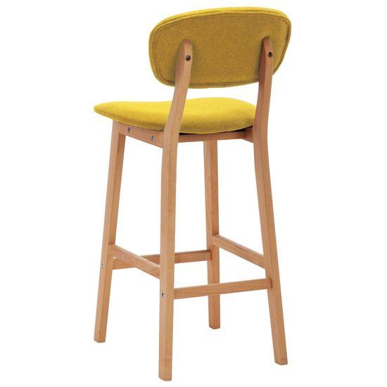 shumee Barové stoličky 2 ks horčicovo-žlté látkové