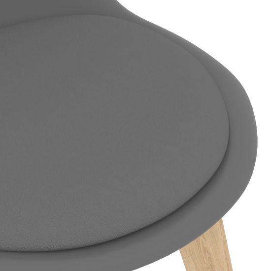 shumee 5-dielna jedálenská súprava sivá