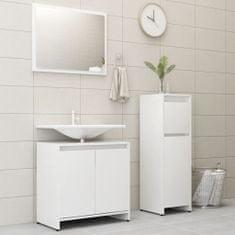 Greatstore 3dílný set koupelnového nábytku bílý dřevotříska