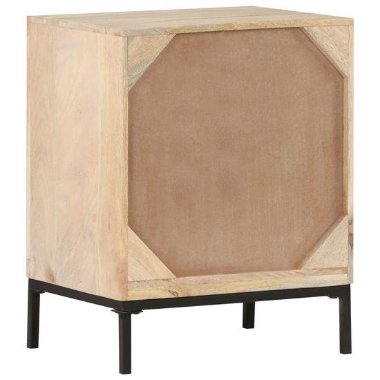 shumee Nočný stolík 40x30x50 cm mango a prírodná palica