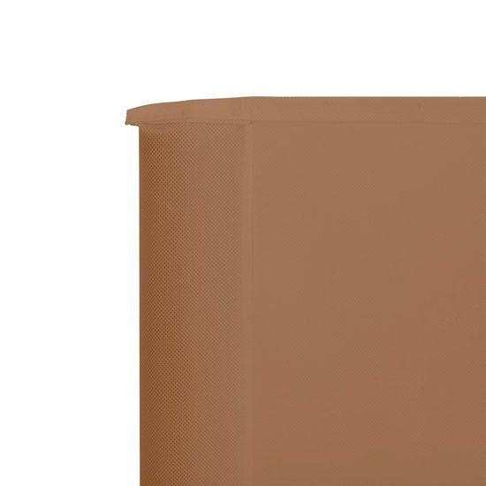 Greatstore 6-panelni vetrobran tkanina 800x160 cm taupe