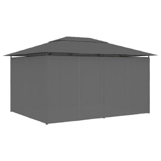 shumee Záhradný prístrešok so závesmi 4x3 m, antracitový