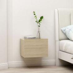 Greatstore Noční stolek dub sonoma 40 x 30 x 30 cm dřevotříska