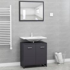 shumee Set koupelnového nábytku šedý dřevotříska