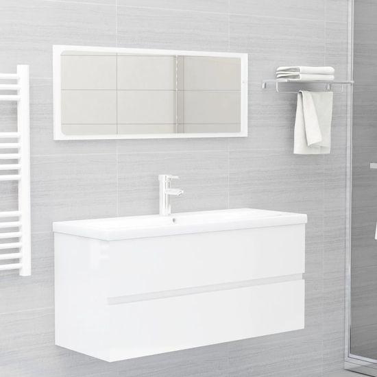 shumee skrinka na umývadlo biela, vysoký lesk 100x38,5x45 cm