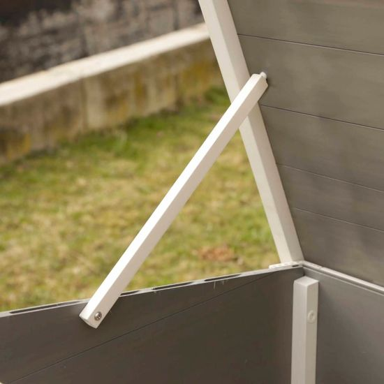 Kerbl EKO Kurník Barney plast 137 x 73 x 83 cm šedo-bílý