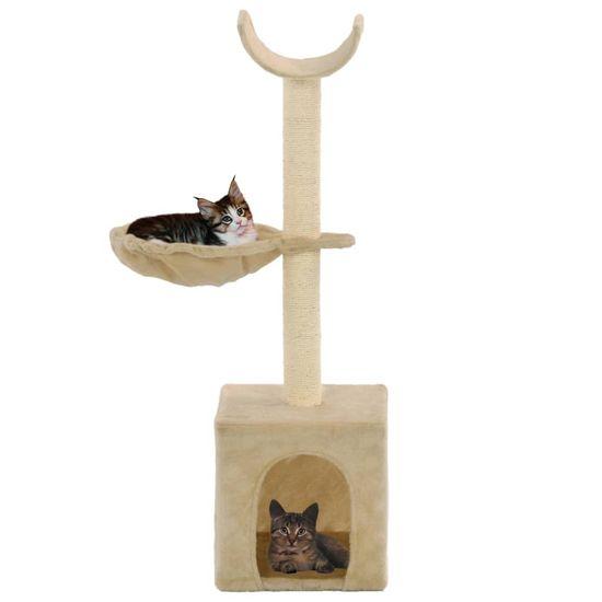 shumee Drapak dla kota z sizalowymi słupkami, 105 cm, beżowy