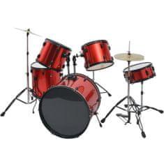 Greatstore Souprava bicích ocel pro dospělé s práškovým lakem červená