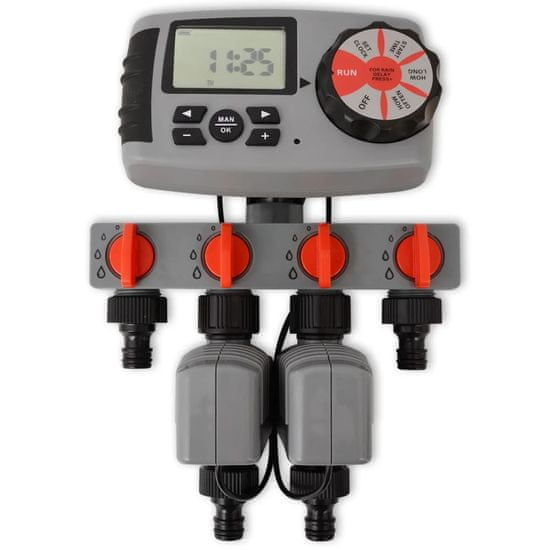 Greatstore 42352 Automatický zavlažovací časovač se 4 stanicemi 3 V