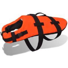 Greatstore Rešilni jopič za psa velikost S oranžne barve