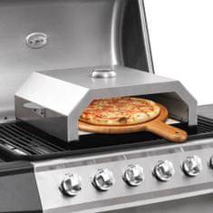 Greatstore Pec na pizzu pro zahradní grily na plyn i uhlí keramická deska