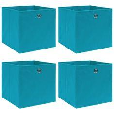 shumee Úložné boxy 4 ks bledomodré 32x32x32 cm látkové