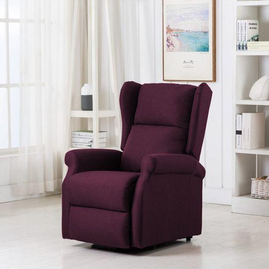 shumee Fotel ułatwiający wstawanie, fioletowy, tapicerowany tkaniną