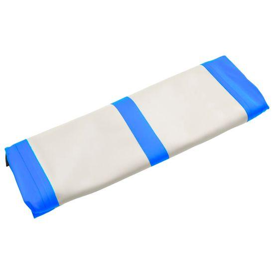 Greatstore Nafukovacia žinenka s pumpou 600x100x20 cm, PVC, modrá