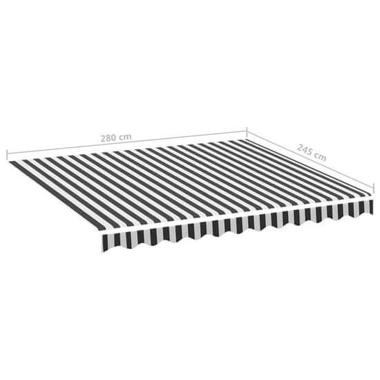shumee antracitszürke és fehér csere napellenző ponyva 3 x 2,5 m
