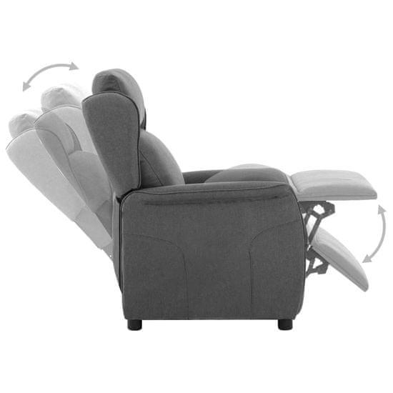 shumee világosszürke szövet elektromos dönthető fotel