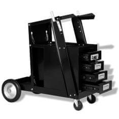 shumee Svářečský vozík se 4 zásuvkami, černá