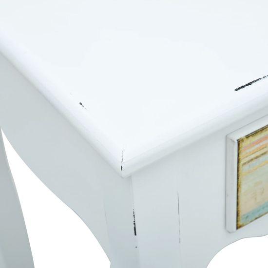 shumee fehér fa tálalóasztal 80 x 40 x 74 cm