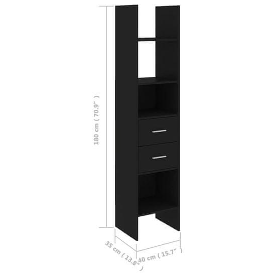 shumee 4-dielna súprava knižníc čierna drevotrieska