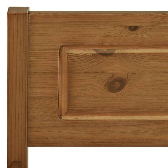 shumee Posteljni okvir iz trdne borovine medeno rjav 160x200 cm