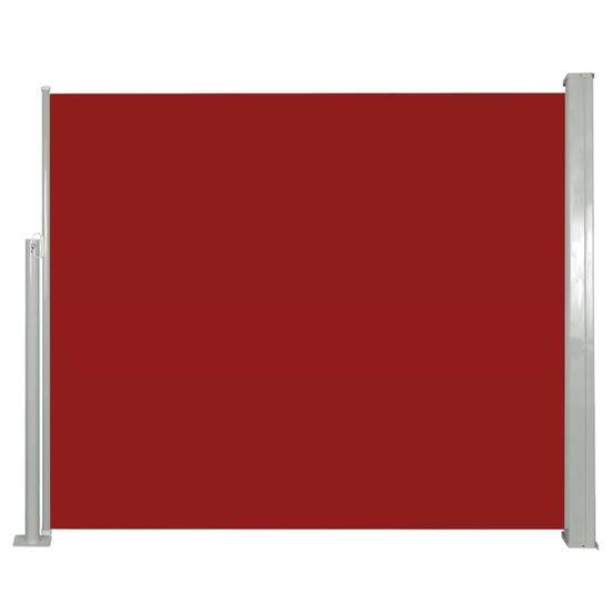 shumee piros behúzható oldalsó napellenző 120 x 300 cm