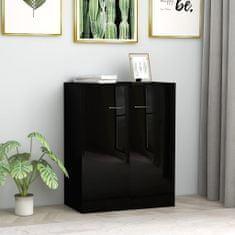 shumee Komoda, lesklá čierna 60x30x75 cm, drevotrieska