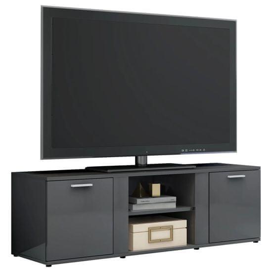 shumee magasfényű szürke forgácslap TV-szekrény 120 x 34 x 37 cm