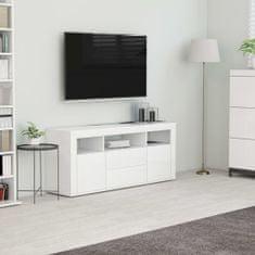 Greatstore TV stolek bílý 120 x 30 x 50 cm dřevotříska