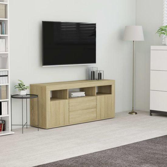 shumee sonoma tölgy színű forgácslap TV-szekrény 120 x 30 x 50 cm