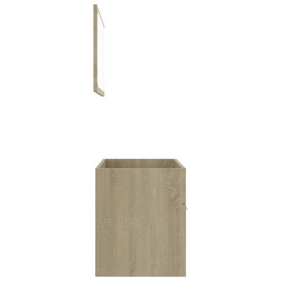 shumee 2 részes sonoma-tölgy színű forgácslap fürdőszobai bútorszett