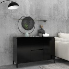 shumee Komoda, čierna 104x35x70 cm, drevotrieska