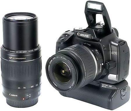 Canon EOS 400D Black / EF-S 18-55 DC + EF 55-200 USM + BG-E3