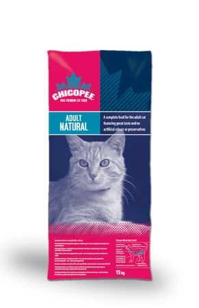 Chicopee hrana za odrasle mačke Natural, 15 kg